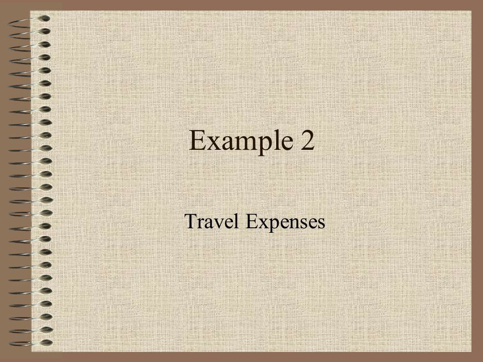 You need to calculate travel expenses for a company.