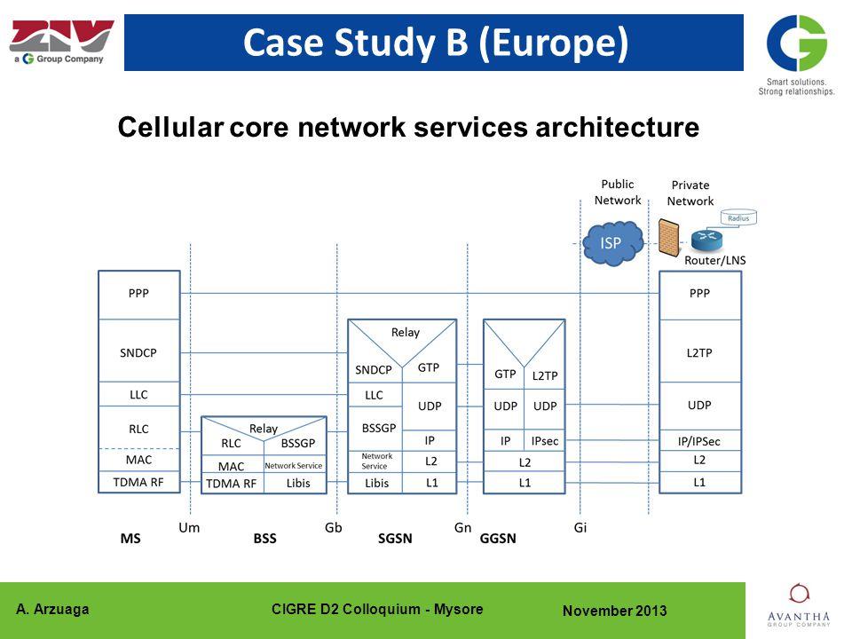 A. ArzuagaCIGRE D2 Colloquium - Mysore November 2013 Case Study B (Europe) Cellular core network services architecture
