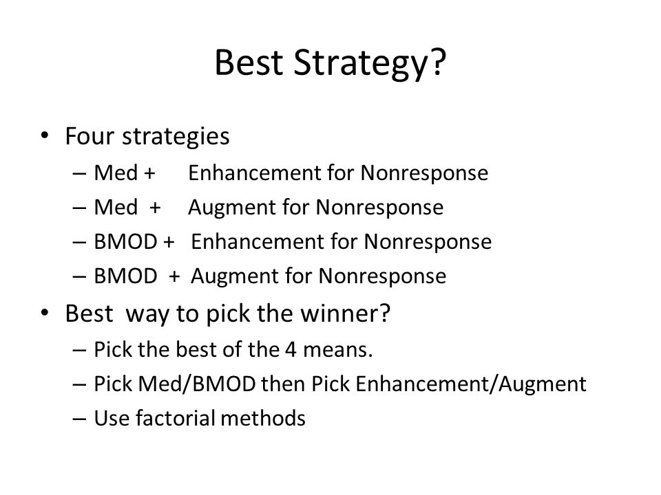 Best Strategy.