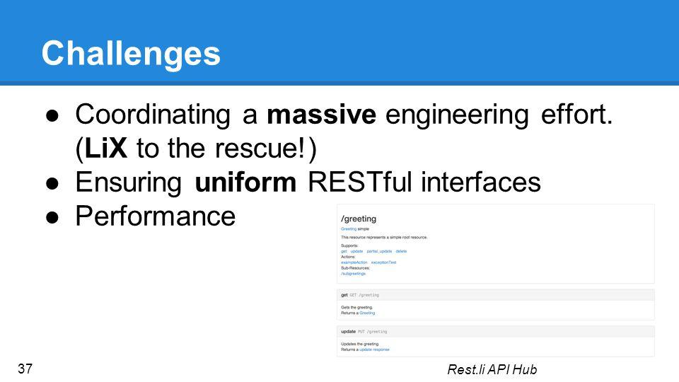 Challenges ●Coordinating a massive engineering effort.