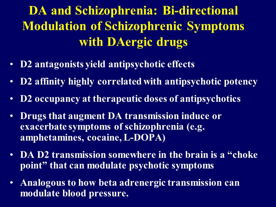 Kapur: Motivational effects of antipsychotic drugs are directly related to their clinical effects DA mediates motivational salience or motivational significance DA mediates instrumental responses to appetitive and aversive events DA antagonists change the drive to obtain food and sex or decrease motivational drive DA allows for the seamless transition from motivation to action DA is involved in decision utility and decision making