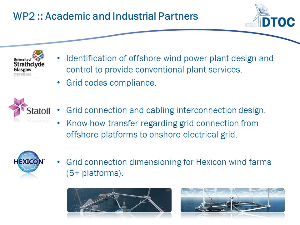 Identification of offshore wind power plant design and control to provide conventional plant services.