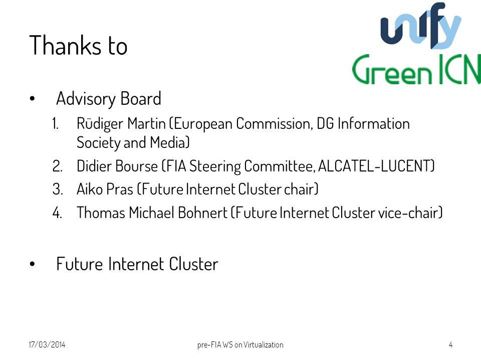 Thanks to Advisory Board 1.