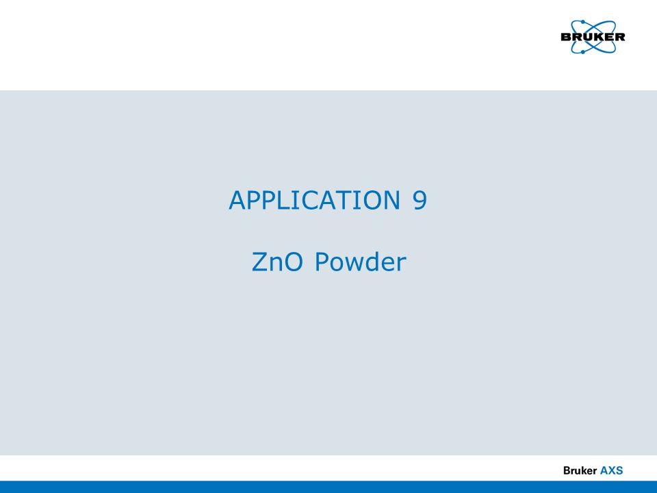 APPLICATION 9 ZnO Powder