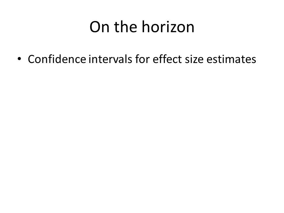On the horizon Confidence intervals for effect size estimates