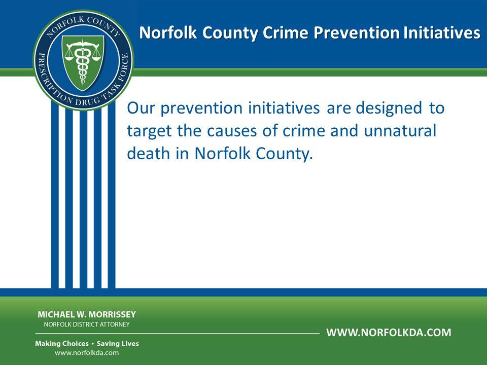 Norfolk County Crime Prevention Initiatives  Impaired Driving Crash Prevention  Opiate Overdose Prevention