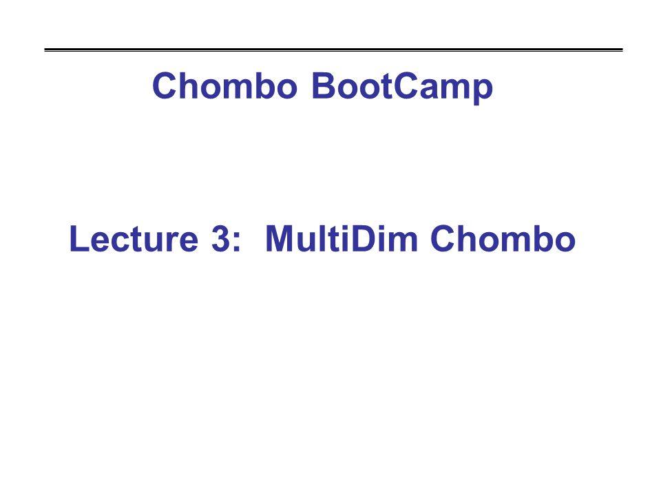 Chombo BootCamp Lecture 3: MultiDim Chombo
