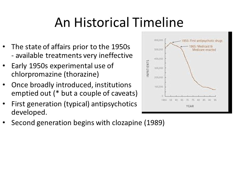 Next Gen #1 - Clozapine Introduction and withdrawal in 1970s Europe – Agranulocytosis Reintroduction in US – Works in some (30-60%) of treatment resistant patients – Does not produce EPS – Improve affect, reduce suicidality – Agranulocyctosis reversible if detected and drug discontinued (testing protocol – weekly, monthly)