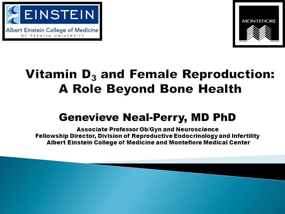 Genevieve Neal-Perry, MD PhD Associate Professor Ob/Gyn and Neuroscience Fellowship Director, Division of Reproductive Endocrinology and Infertility Albert Einstein College of Medicine and Montefiore Medical Center