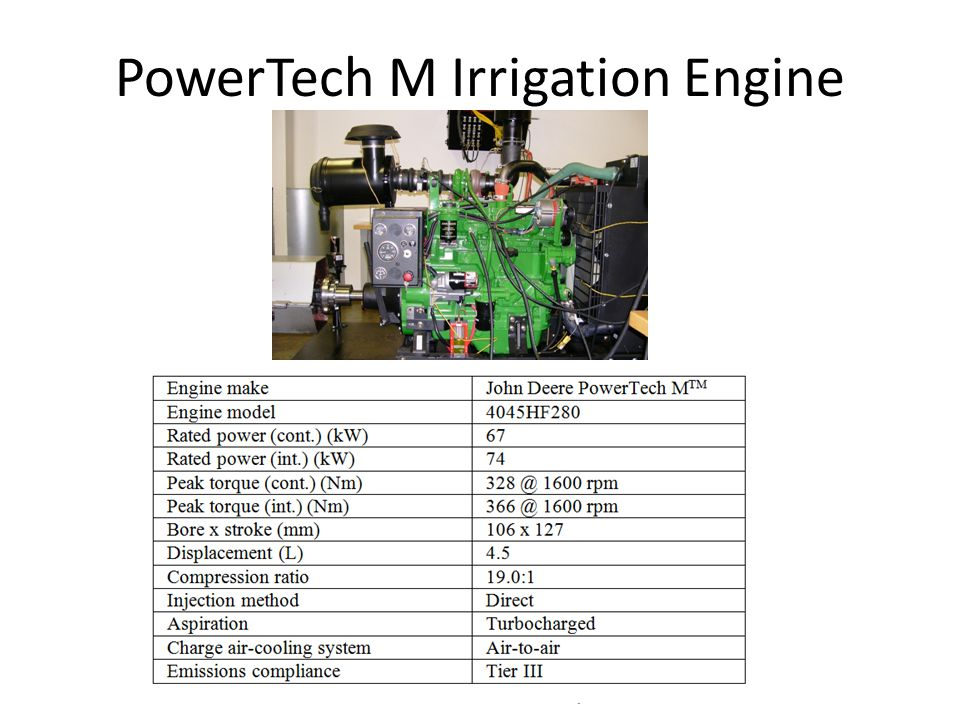 PowerTech M Irrigation Engine Arkansas Biodiesel Research, Demonstration and Education Project