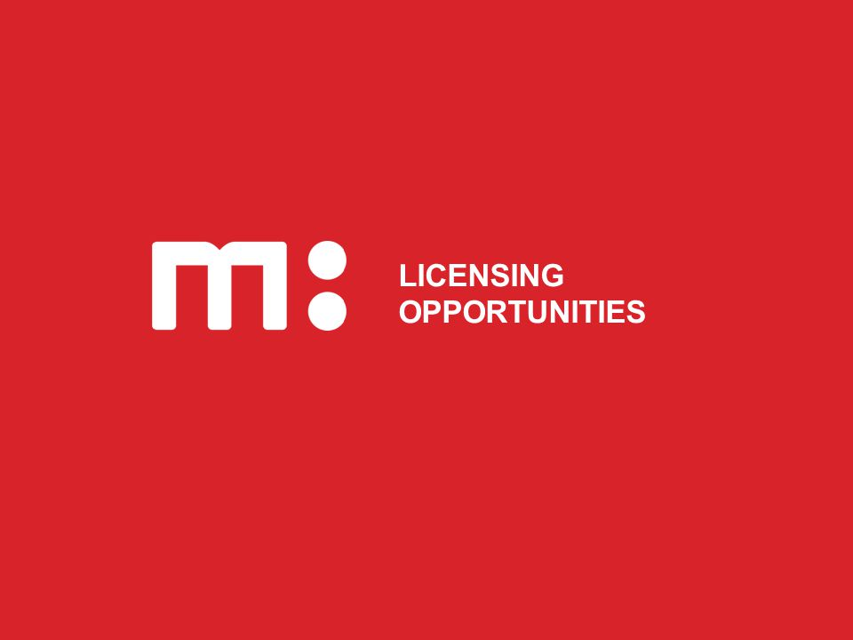 ANY QUESTIONS LICENSING OPPORTUNITIES