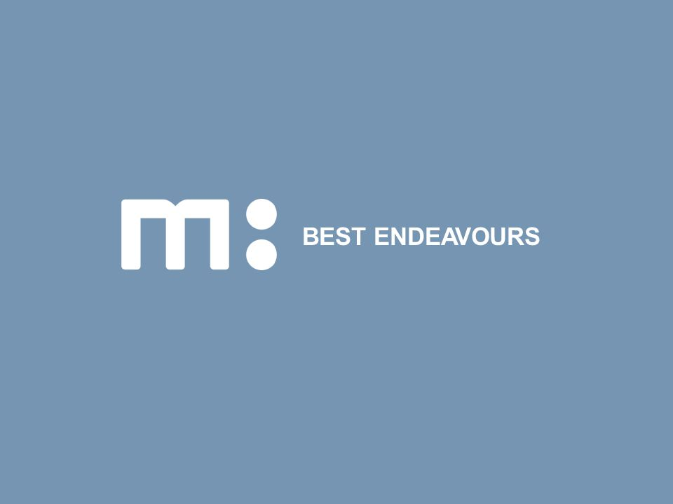BEST ENDEAVOURS