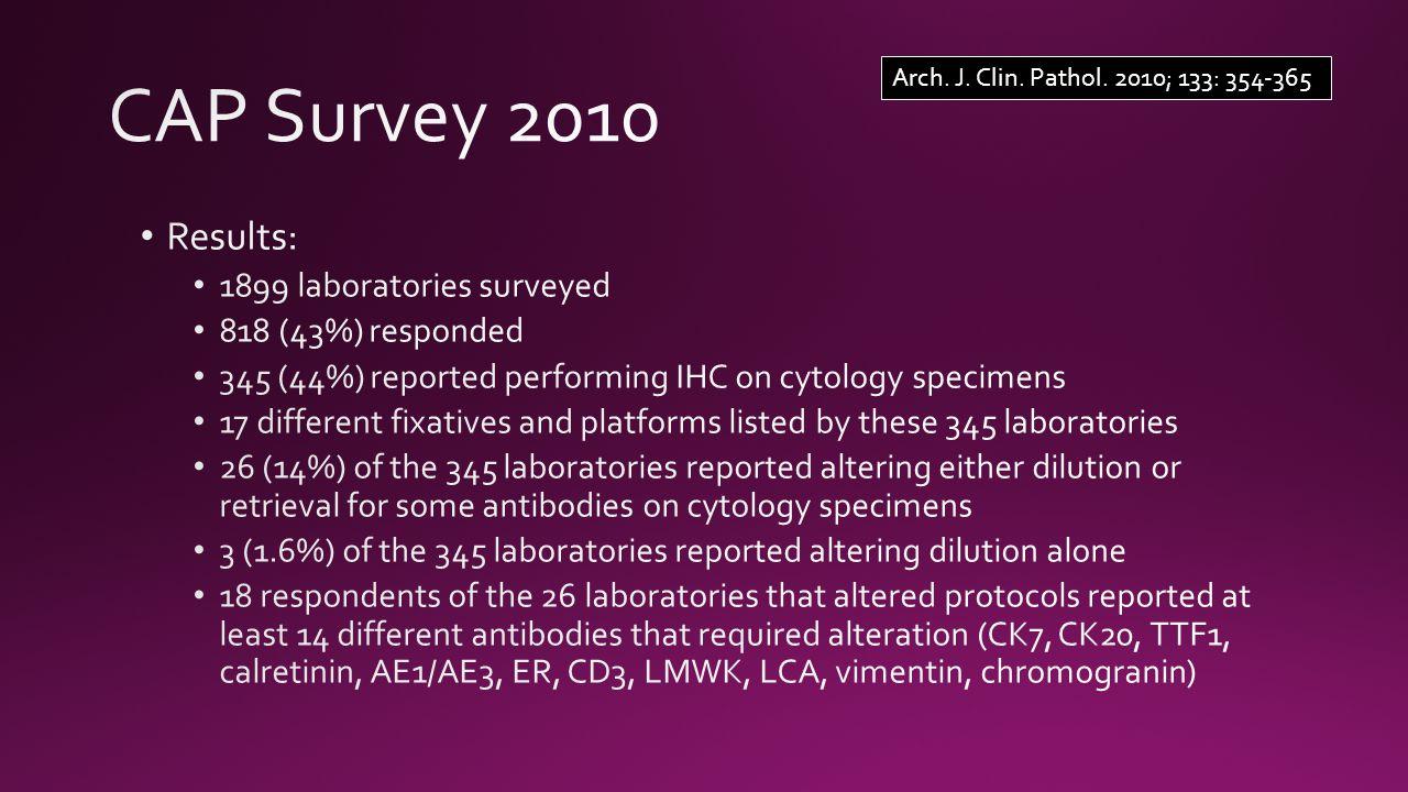 Arch. J. Clin. Pathol. 2010; 133: 354-365