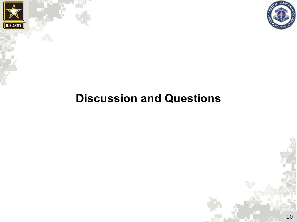 10 Discussion and Questions