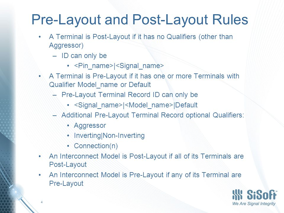 Pre-Layout Model Examples Crosstalk (coupled) One DQ victim, two DQ aggressors –Terminal 1 Pin DQ Model_name Aggressor Connection(1) –Terminal 2 Buf DQ Model_name Aggressor Connection(1) –Terminal 3 Pin DQ Model_name Connection(2) –Terminal 4 Buf DQ Model_name Connection(2) –Terminal 5 Pin DQ Model_name Aggressor Connection(3) –Terminal 6 Buf DQ Model_name Aggressor Connection(3) –[Pin] –A1 DQ1 DQ –[Model] DQ 15