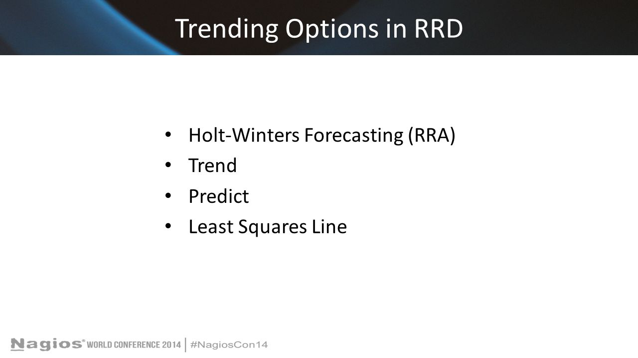 Trending Options in RRD Holt-Winters Forecasting (RRA) Trend Predict Least Squares Line