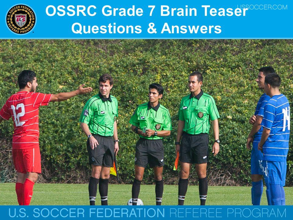 OSSRC Grade 7 Brain Teaser Questions & Answers