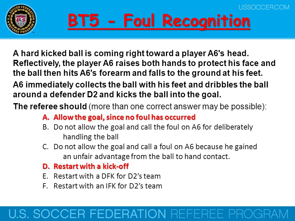 BT26 - Foul Recognition Are trifling fouls those that are simple in nature and don't have a significant impact on the game.