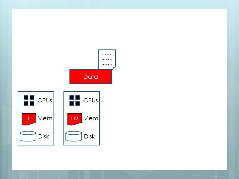 D1 CPUs Mem Disk D2 CPUs Mem Disk ~~~~ Data 47