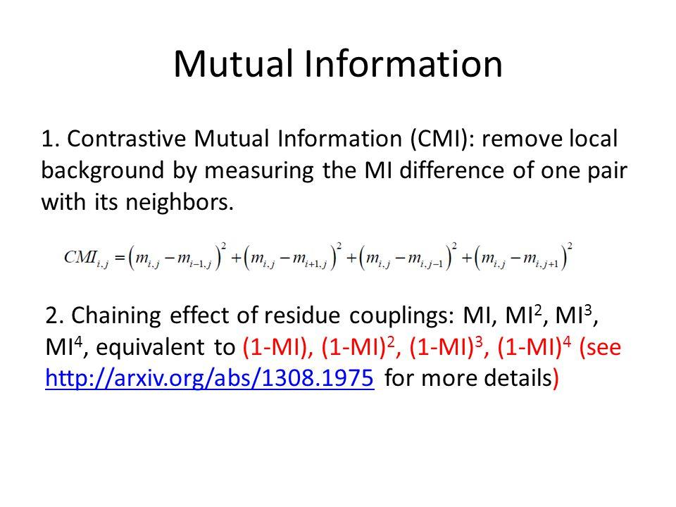 Mutual Information 1.