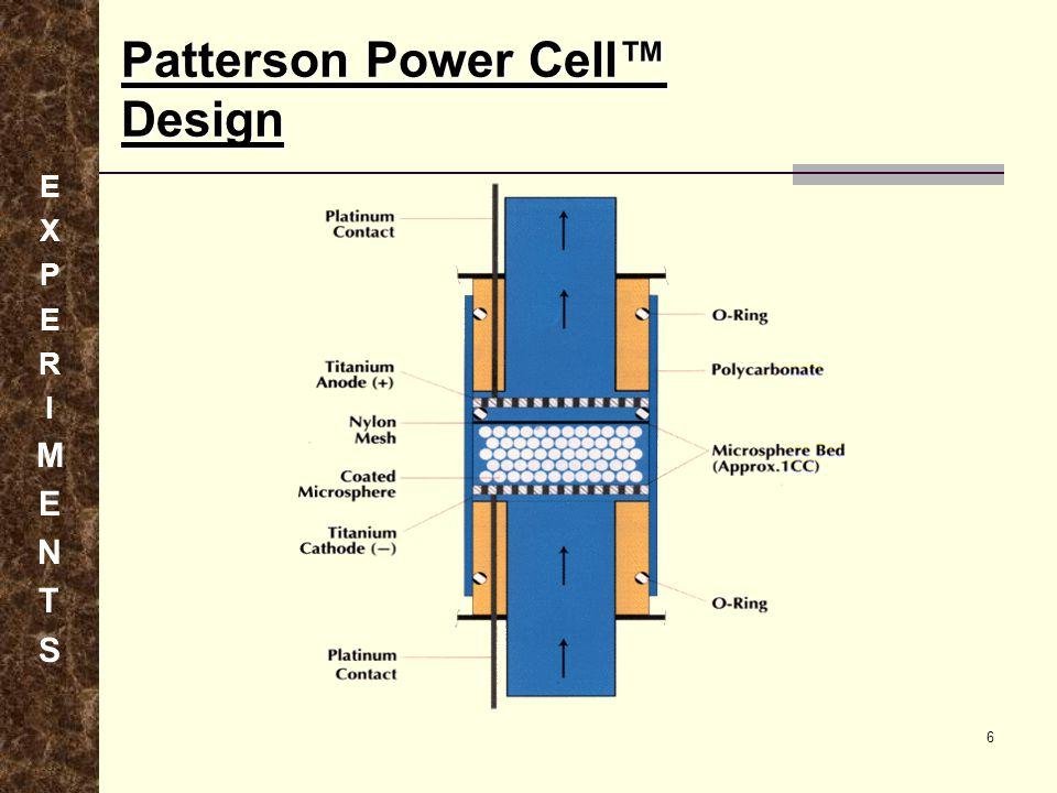 Patterson Power Cell™ Design EXPERIMENTSEXPERIMENTS 6