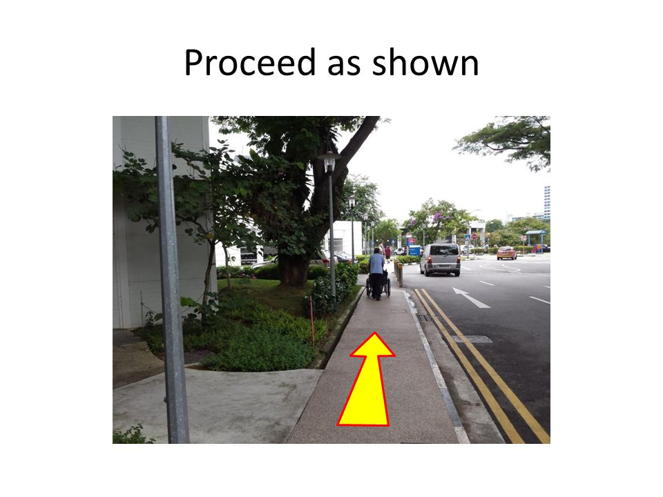 Proceed as shown