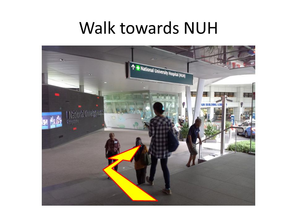 Proceed up ramp to bus stop 3