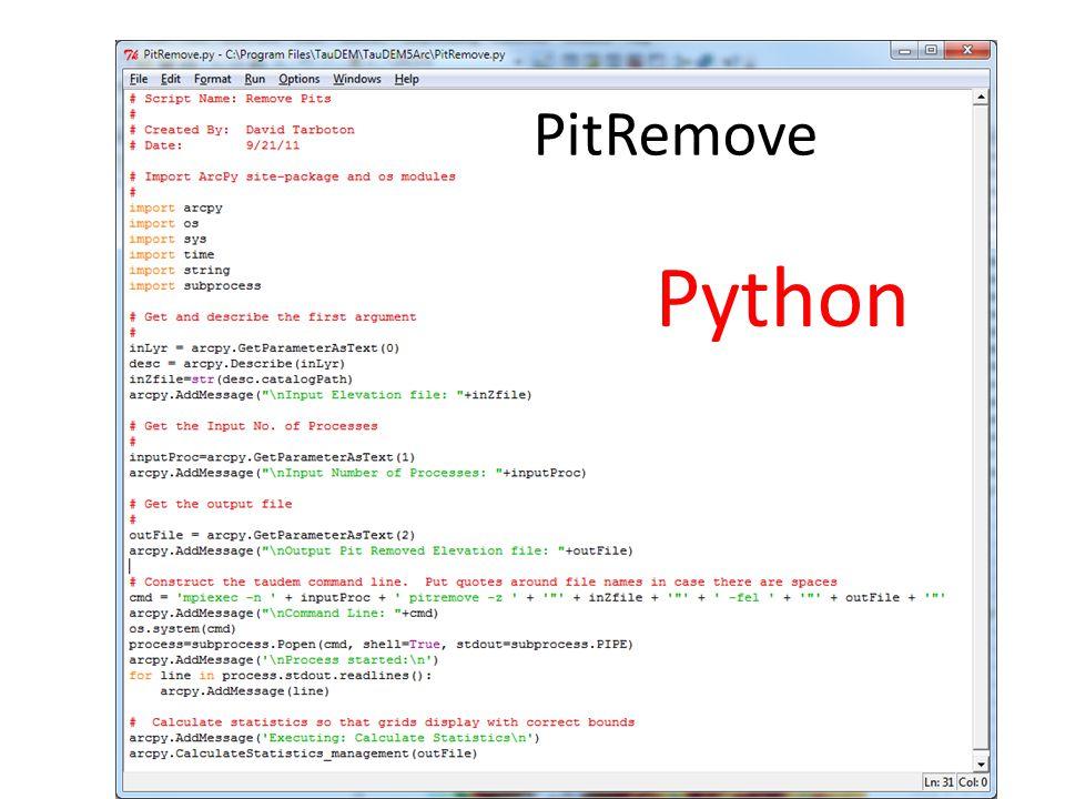 PitRemove Python