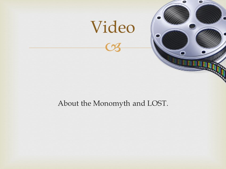  About the Monomyth and LOST. Video