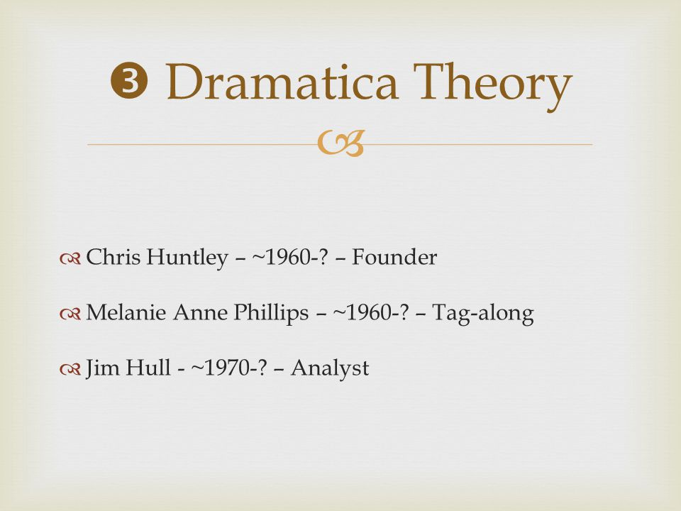   Chris Huntley – ~1960-.– Founder  Melanie Anne Phillips – ~1960-.