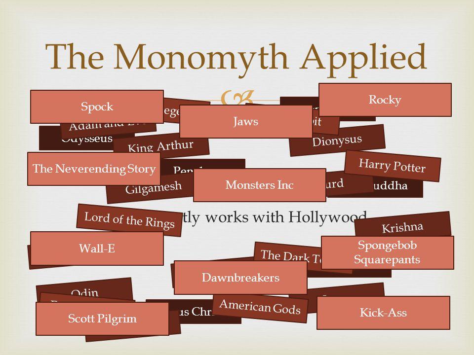 Vogler mostly works with Hollywood. The Monomyth Applied Odysseus Penelope Prometheus The Buddha Osiris Jesus Christ Telemachus Adam and Eve Gilgame