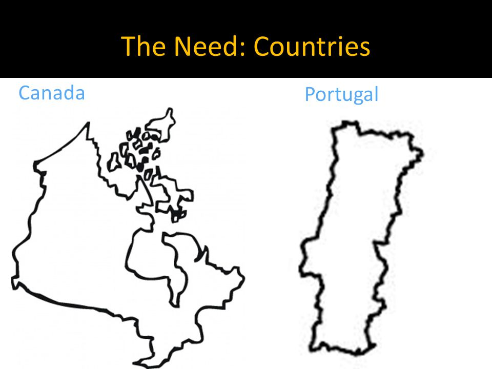 The Need: Countries Canada Portugal