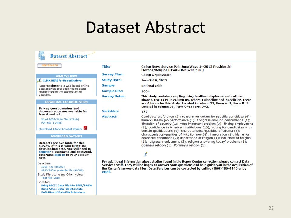 Dataset Abstract 32