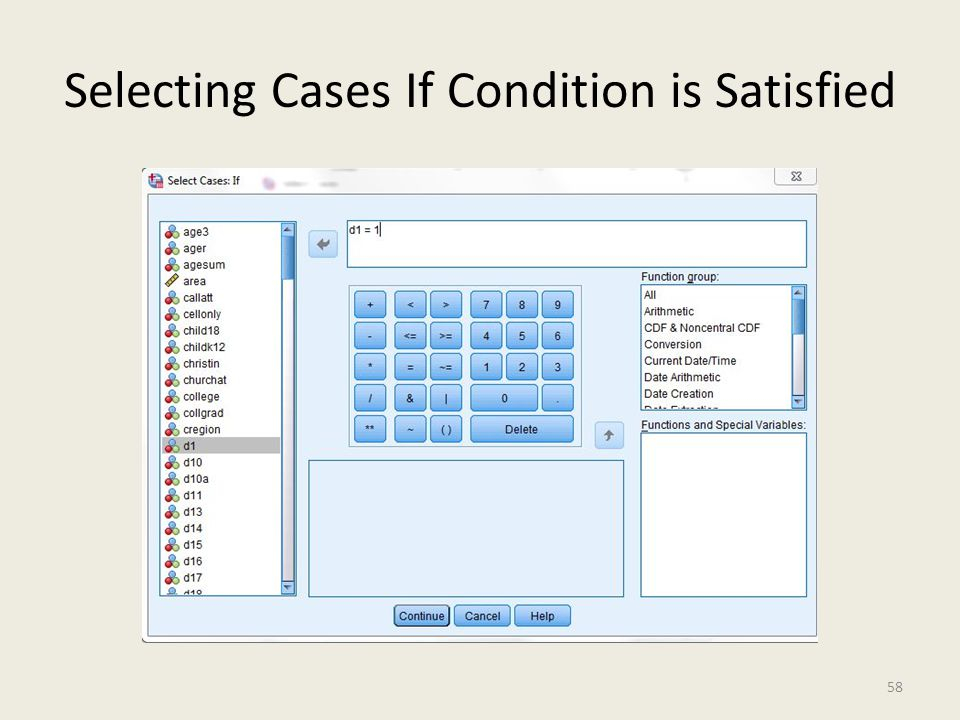 Selecting Cases If Condition is Satisfied 58
