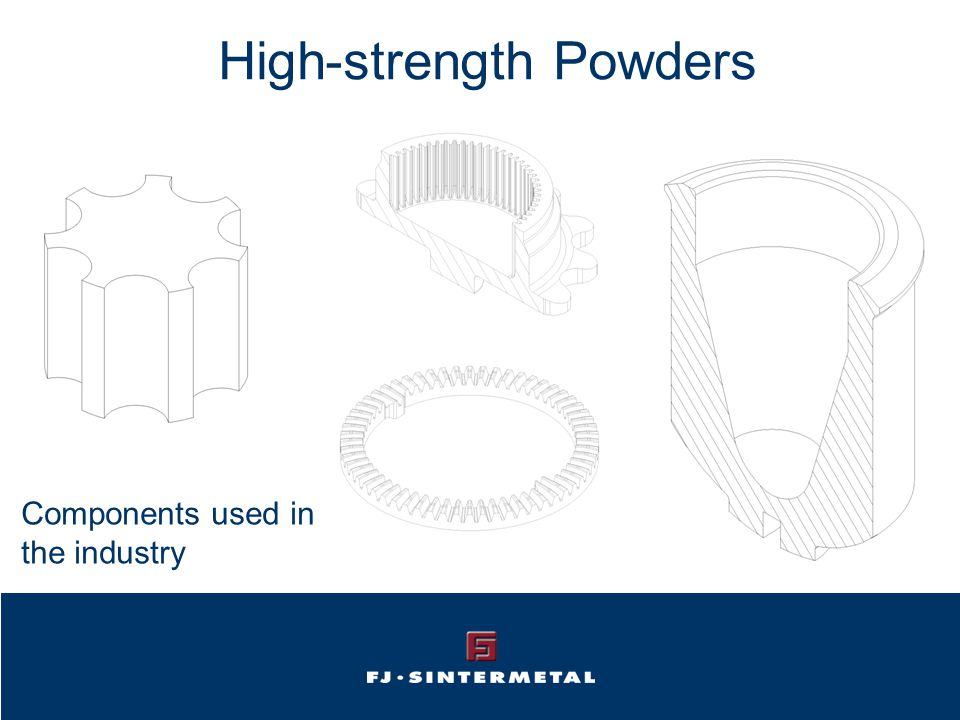 High-strength Powders Components used in the industry