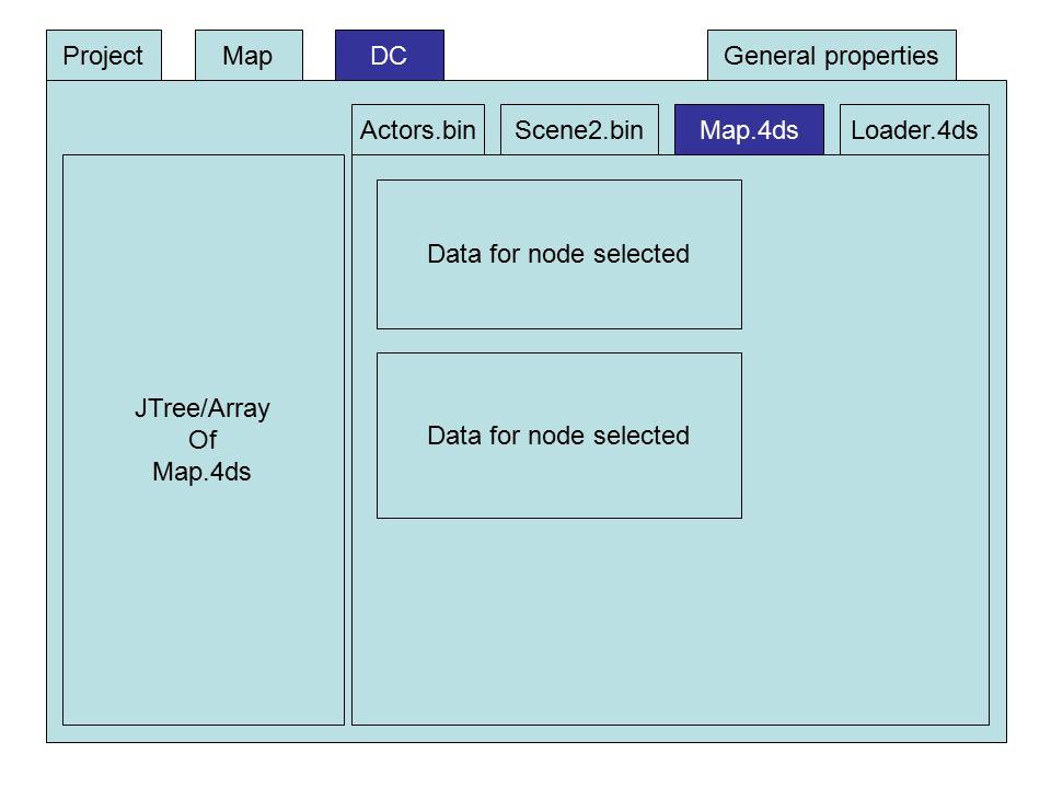 DC JTree/Array Of Map.4ds Data for node selected ProjectMap Actors.binScene2.binMap.4dsLoader.4ds General properties