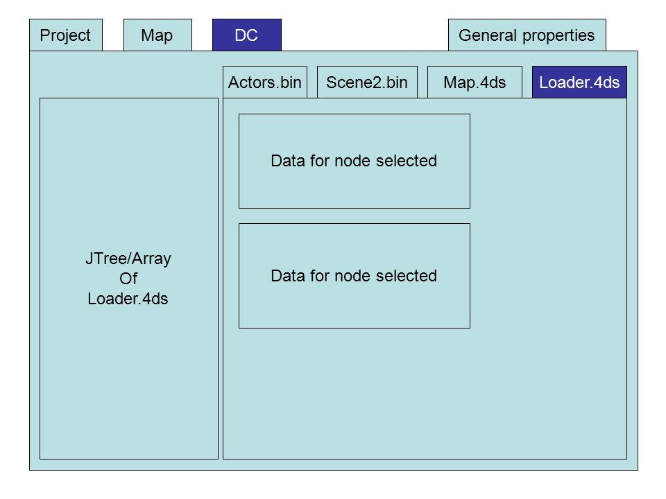 DC JTree/Array Of Loader.4ds Data for node selected ProjectMap Actors.binScene2.binMap.4dsLoader.4ds General properties