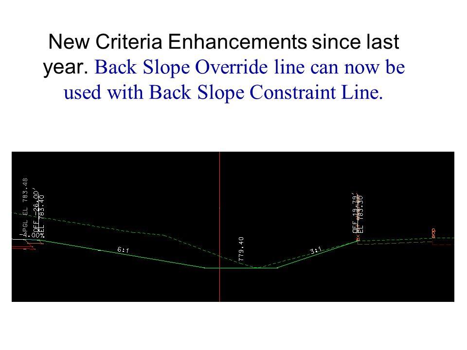 Live Demo T:\de-proj\D\Typicals1\data\pattern_shape.dgn New Criteria Enhancements since last year.