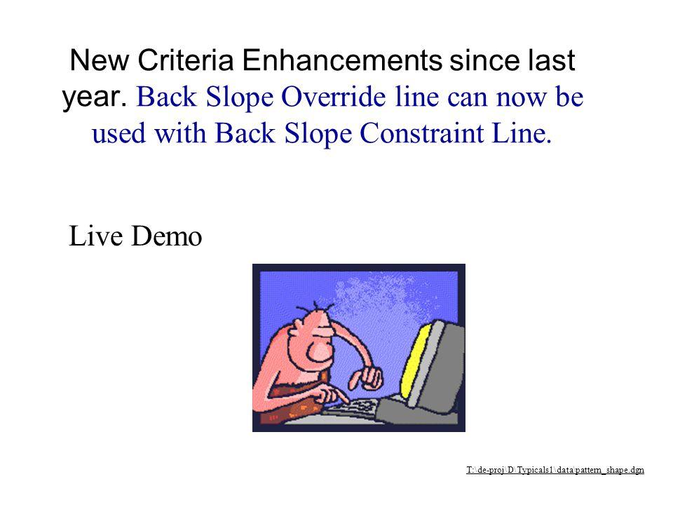 New Criteria Enhancements Edge of Pavement/Shoulders