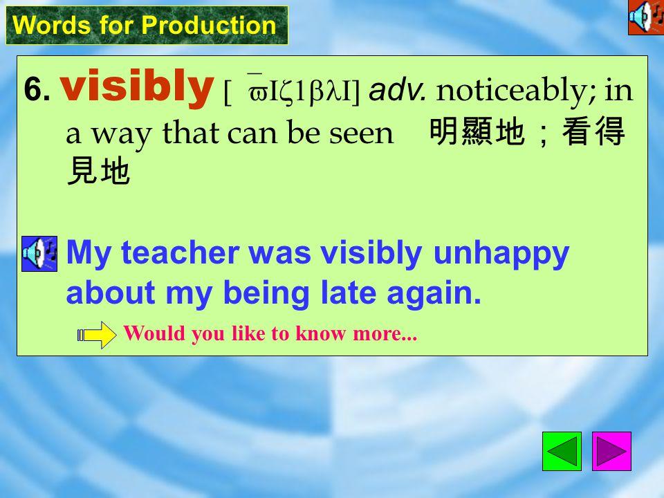 Words for Production 5. dim [dIm] adj.