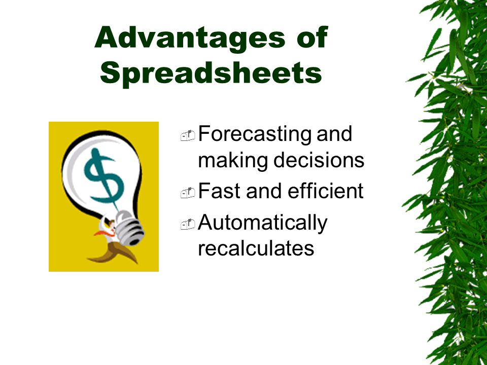 What-if Analysis A spreadsheet tool used to play out different situations to determine the outcome