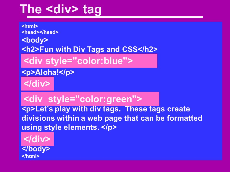 Adding background color using our style sheet