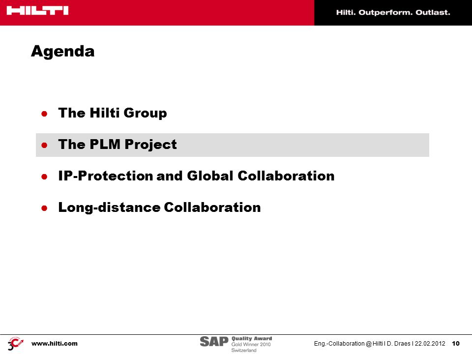 Eng.-Collaboration @ Hilti I D.