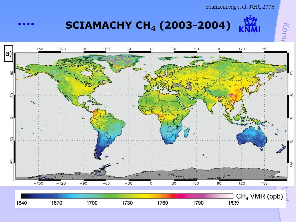 SCIAMACHY CH 4 (2003-2004) Frankenberg et al, JGR, 2006