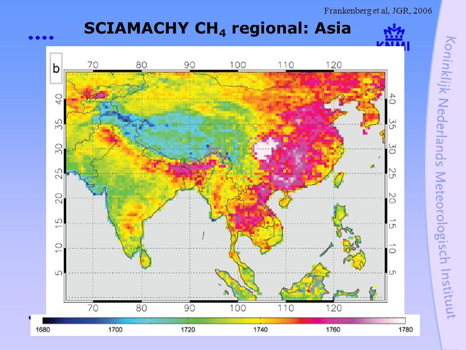 SCIAMACHY CH 4 regional: Asia Frankenberg et al, JGR, 2006