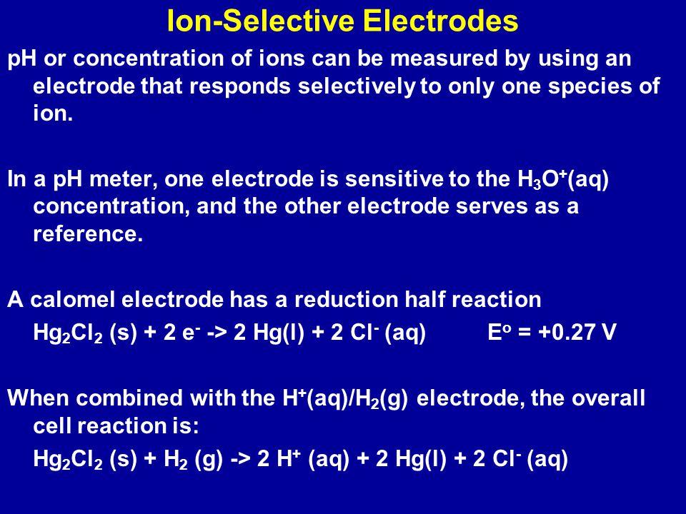 Mg 2+ (aq) + 2e -  Mg(s)E o = -2.36 V Fe 2+ (aq) + 2e -  Fe (s)E o = -0.44 V The spontaneous cell reaction: Mg(s) + Fe 2+ (aq)  Fe (s) + Mg 2+ (aq)