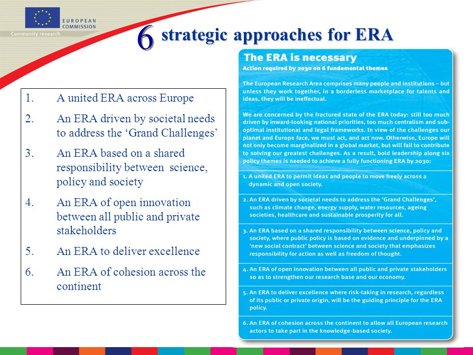 10 A united ERA to permit ideas and people to move freely across a dynamic, open society