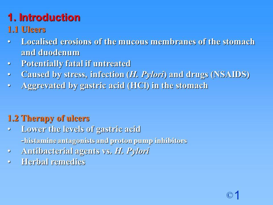 1 © Antrum Stomach Pyloric Sphincter oesophagus Duodenum Histamine Acetylcholine Gastrin Cck 2 M3M3 H2H2 Parietal Cells Stomach 1.