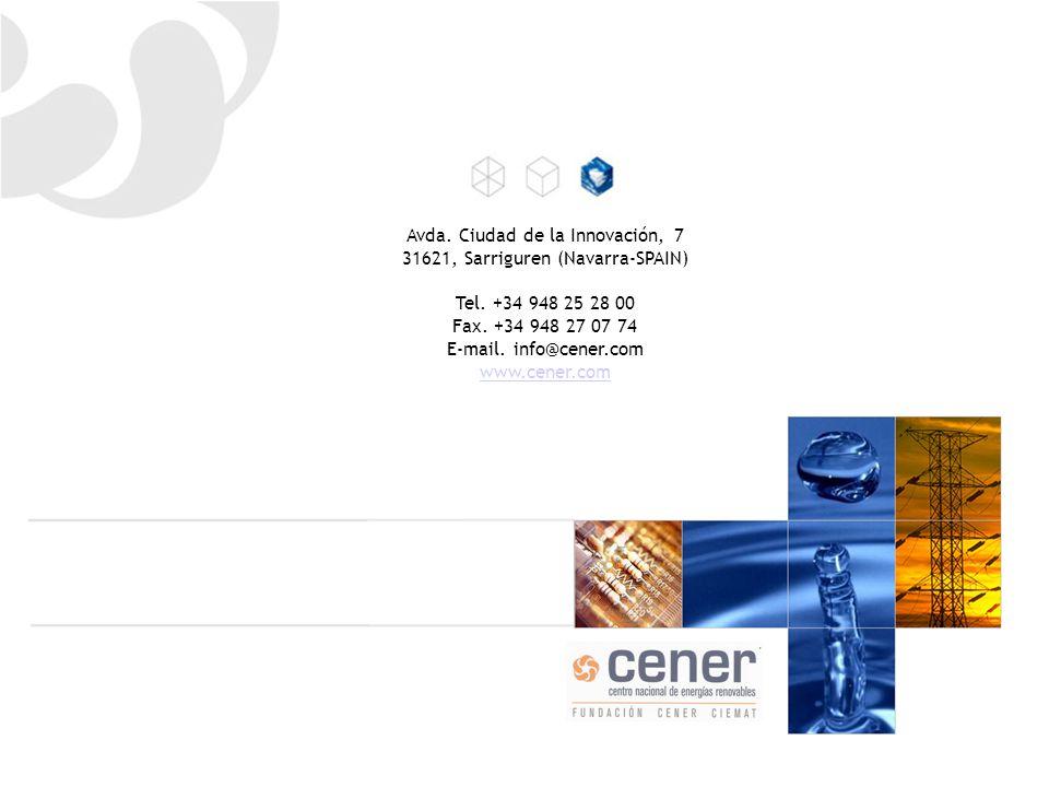 Avda. Ciudad de la Innovación, 7 31621, Sarriguren (Navarra-SPAIN) Tel.