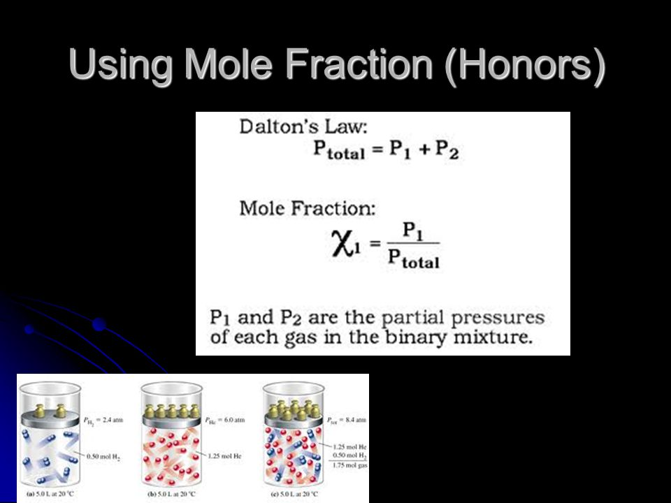 Using Mole Fraction (Honors)